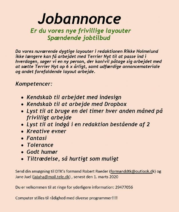 Job annonce